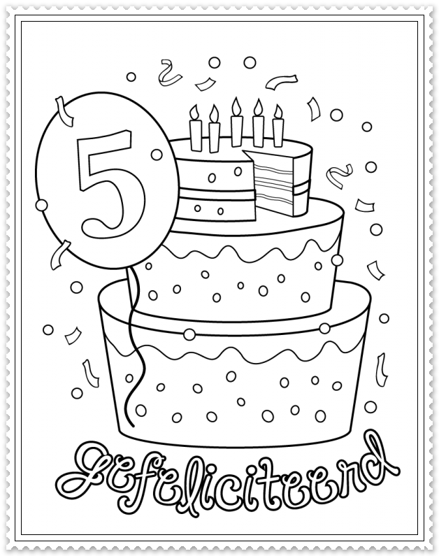 Hoera 5 Jaar Verjaardag Verjaardagskalender School Verjaardag