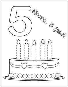 Taart Kleurplaat Met 5 6 Kaarsen Google Zoeken Verjaardagskalender Knutselen Verjaardagskalender Verjaardagsideeen