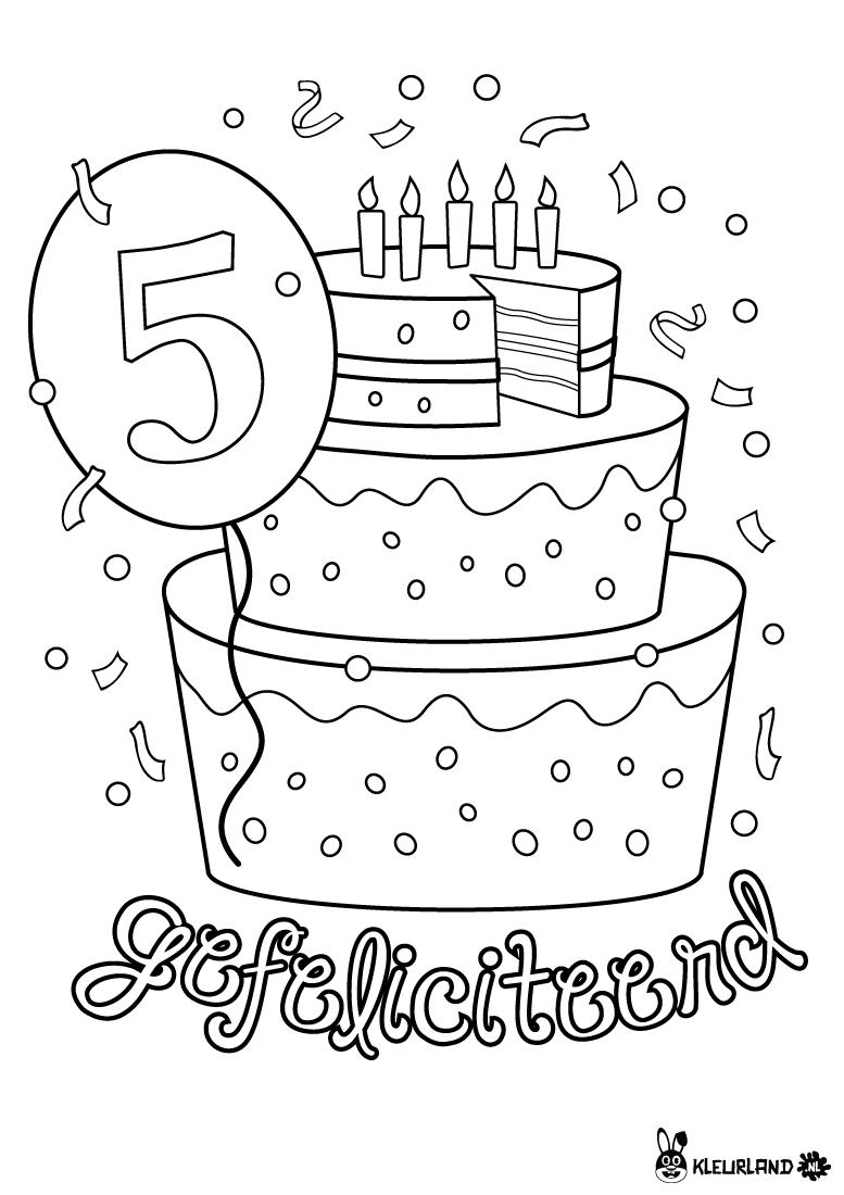 Verjaardagstaart 5 Jaar Verjaardag Verjaardagsideeen Verjaardagskalender