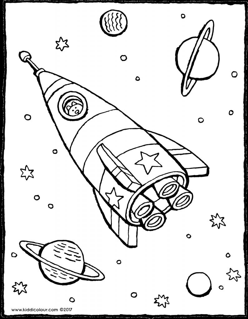 Kleurplaten Voor Kinderen Van 7 Tot 9 Jaar Kiddi De Leukste Kleurprentjes Kleurplaten Voor Kinderen Ruimte Thema Raket