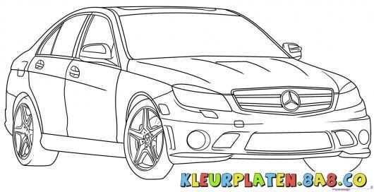 Afbeeldingsresultaat Voor Kleurplaat Mercedes Auto Tekeningen Kleurplaten Mercedes