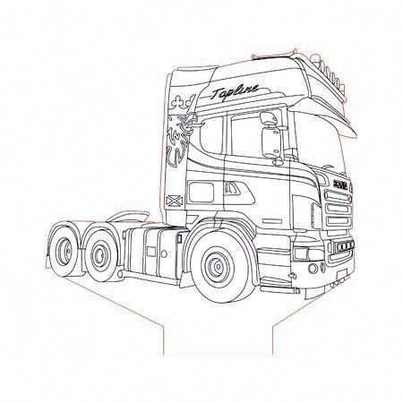 Scania Truck 2 3d Illusion Lamp Plan Vector File For Cnc 3bee Studio Vw181wallpaper Auto Tekeningen 3d Tekeningen Kleurplaten
