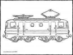 Locomotief Kiddikleurplaten Locomotief Kleurplaten Dieren
