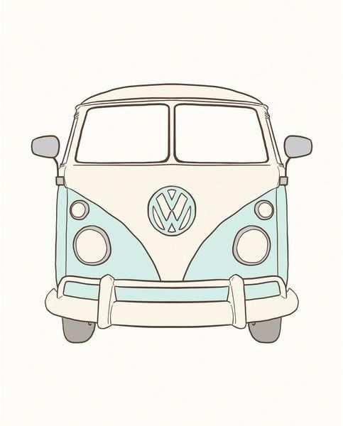 Vwtype3art Camper Tekenen Auto Tekeningen Abstracte Kleurplaten