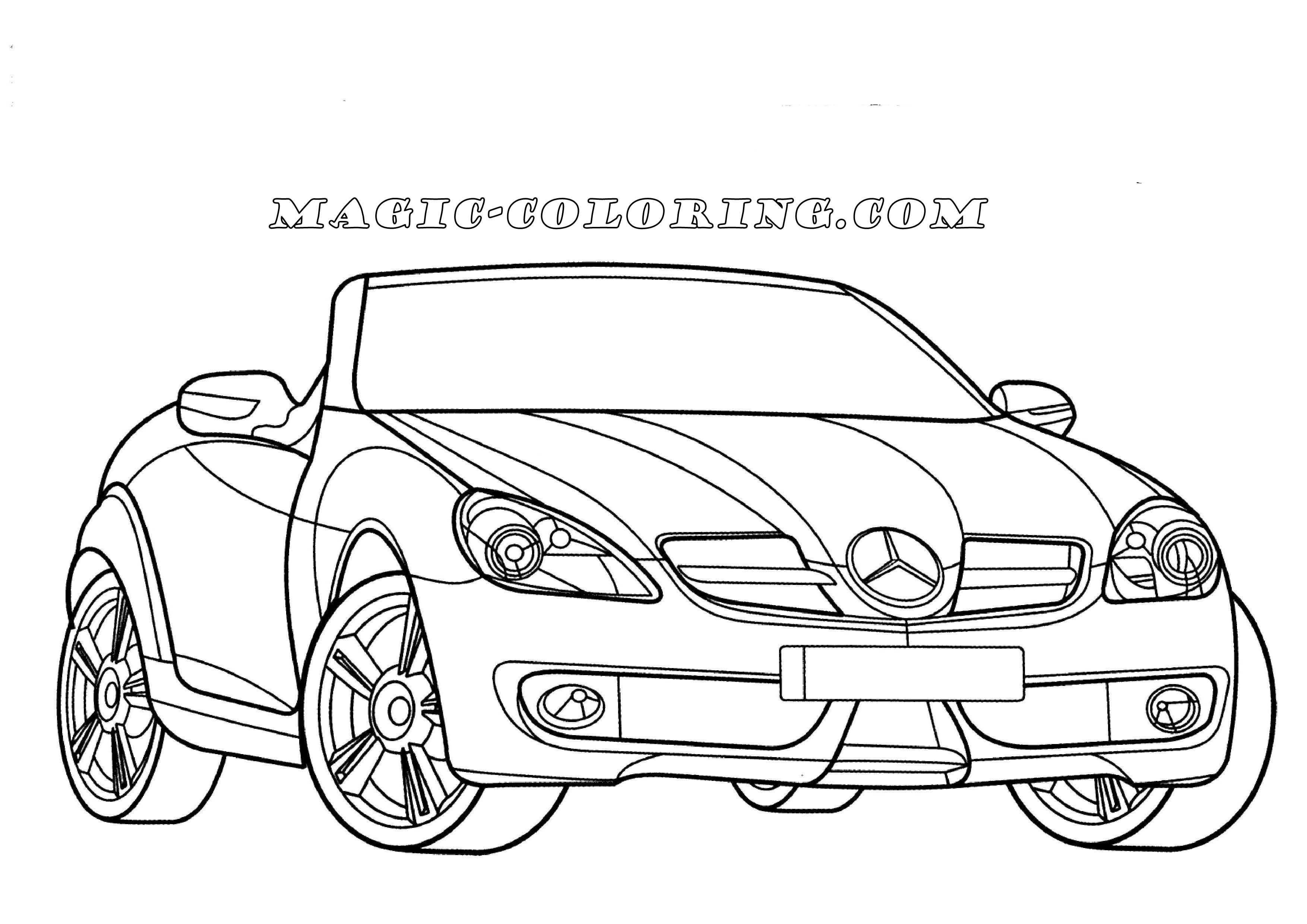 Mercedes Benz Slk Class Coloring Page Mercedes Benz Slk Mercedes Mercedes Benz