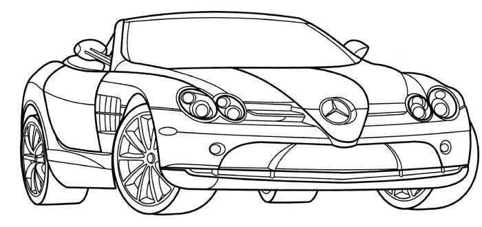 Mercedes Slr Mclaren Coloring Page Race Car Coloring Pages Cars Coloring Pages Sports Coloring Pages