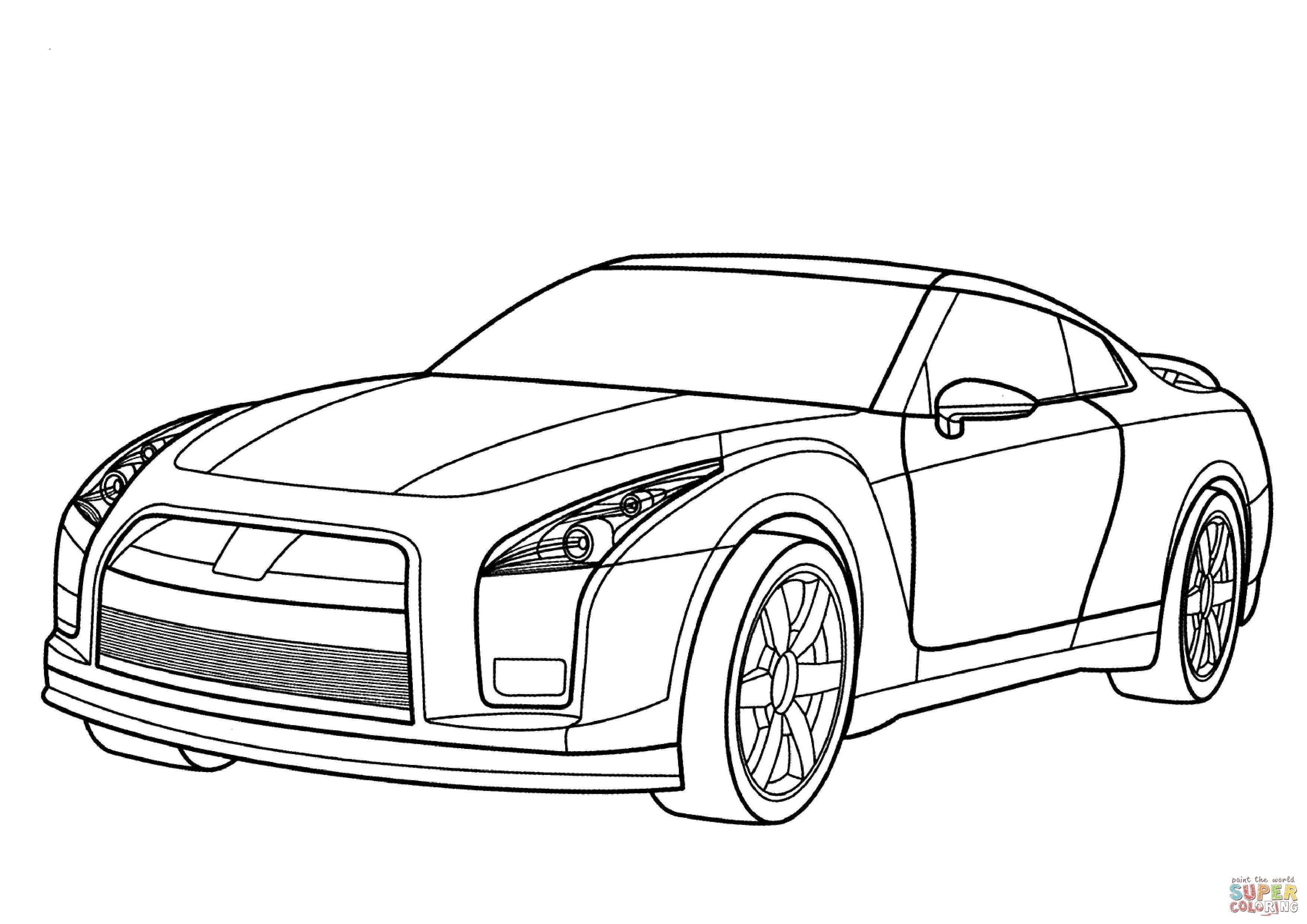 Nissan Gtr Kleurplaat Gratis Kleurplaten Printen Cars Coloring Pages Nissan Gtr Car Colors