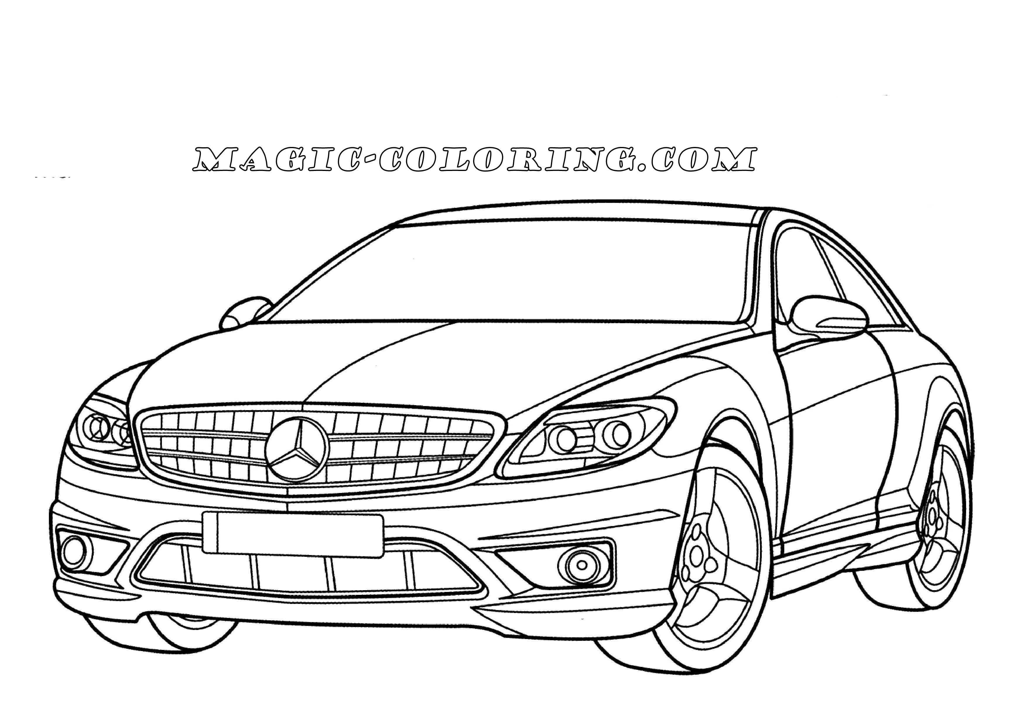 Mercedes Benz Cl Class Coloring Page Cars Coloring Pages Mercedes Car Drawings