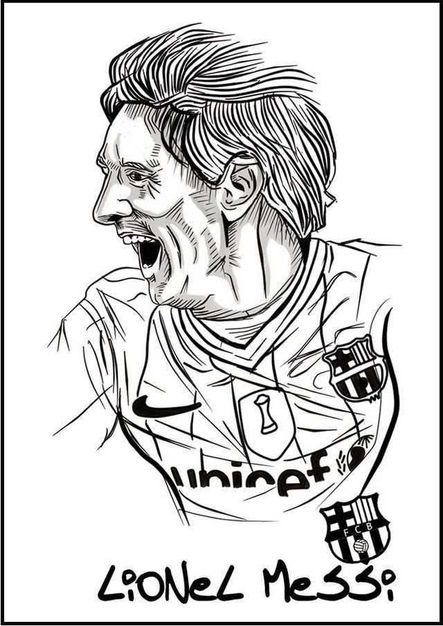 Messi Soccer Football Player Coloring Pictures Sports Coloring Pages Messi Soccer Football Coloring Pages