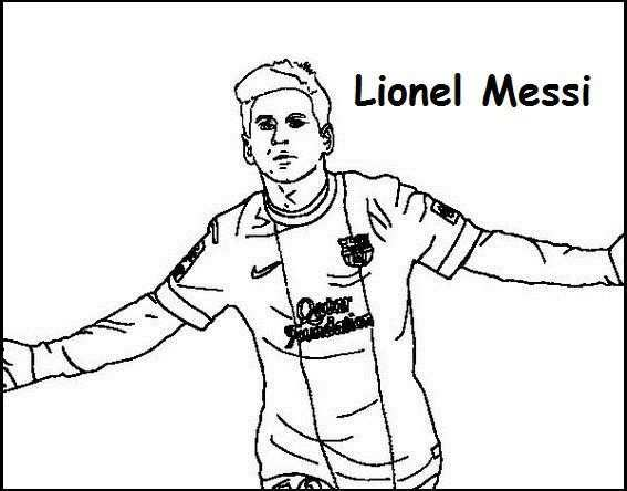 Lionel Messi Coloring Printable Page Sports Coloring Pages Lionel Messi Messi