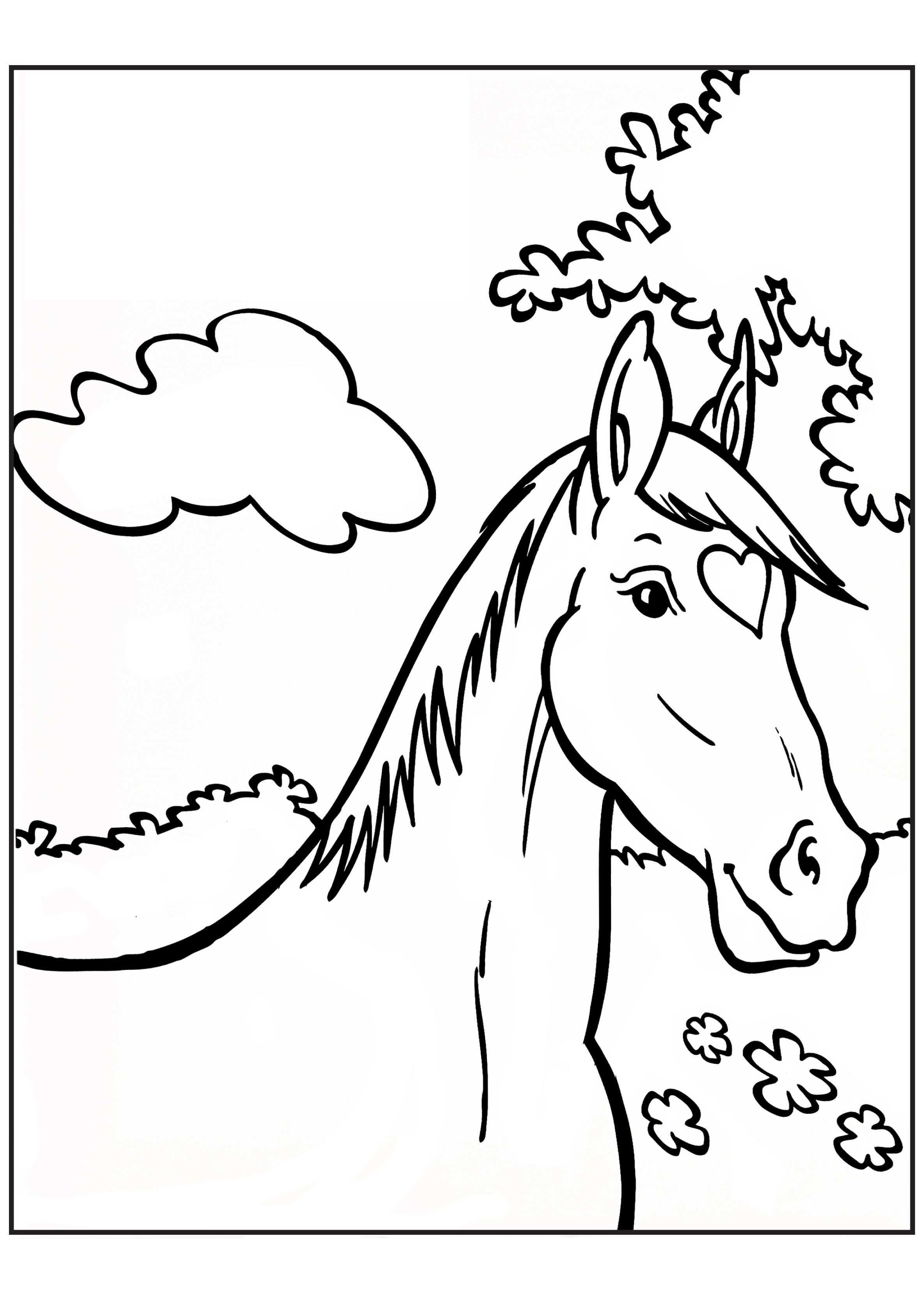 Kleurplaat Paard Kleurplaten Paarden Thema