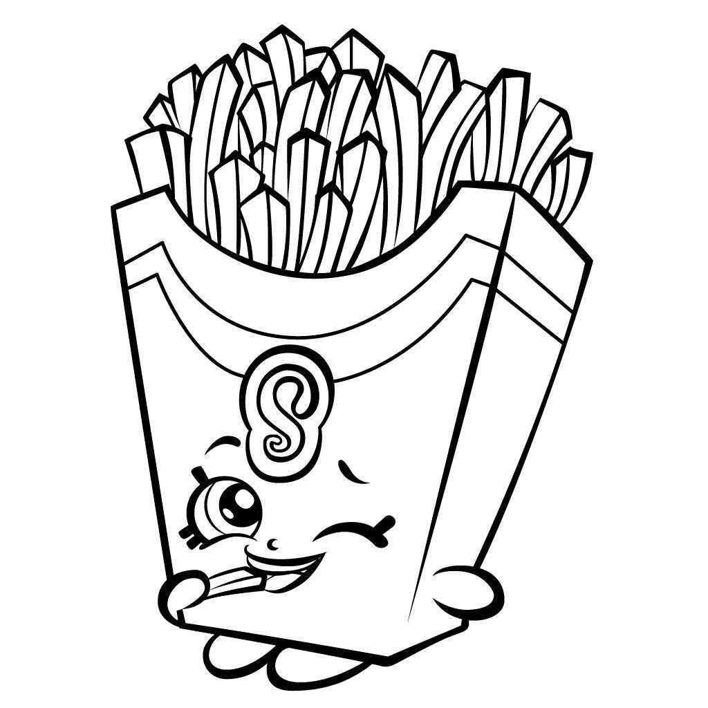 Shopkins Coloring Pages French Fry Free Shopkins Coloring Pages Minion Coloring Pages