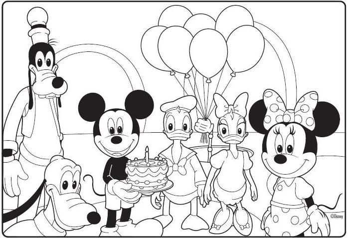 Mickey Mouse Clubhouse Birthday Coloring Page Mickey Mouse Coloring Pages Birthday Coloring Pages Mickey Coloring Pages