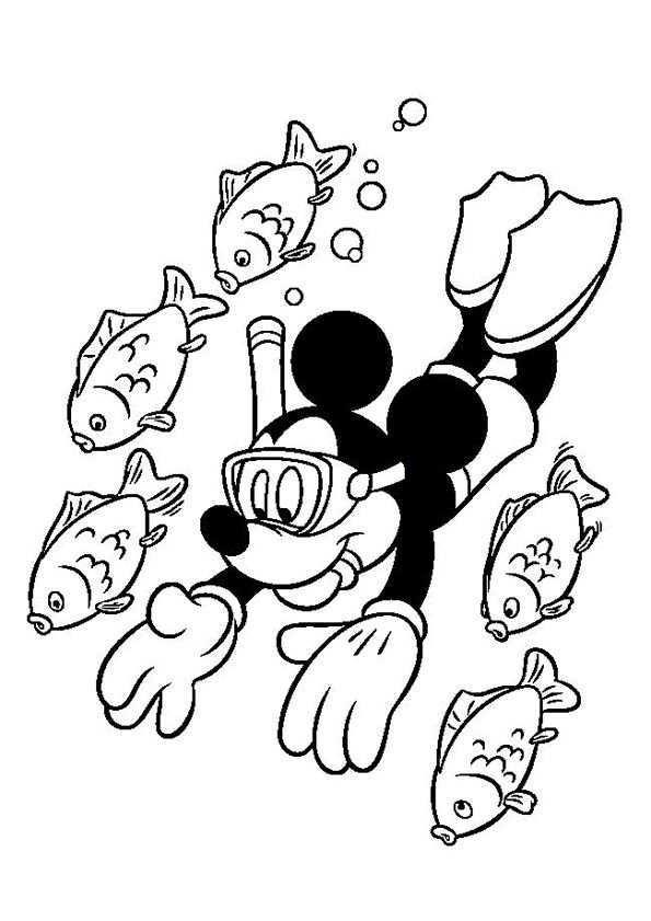 Kleurplaat Vakantie Kleurplaten Mickey Mouse Mickey