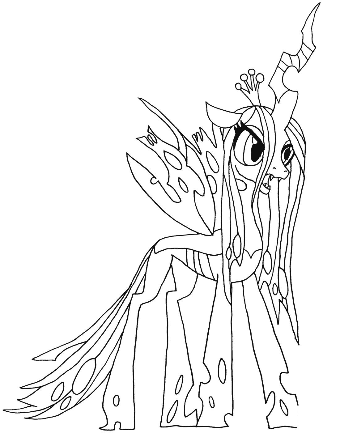 My Little Pony Queen Chrysalis Kleurplaat Kleurplaten My Little Pony Rainbow Dash