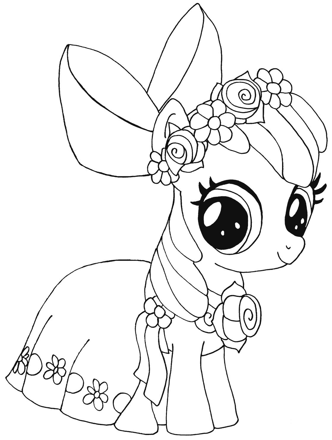 My Little Pony Apple Bloom Kleurplaat My Little Pony Kleurplaten Kleurboek