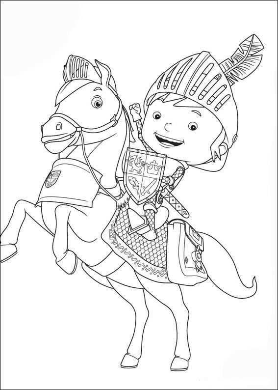 Mike De Ridder Kleurplaten 2 Ridders Kleurboek Kleurplaten Voor Kinderen
