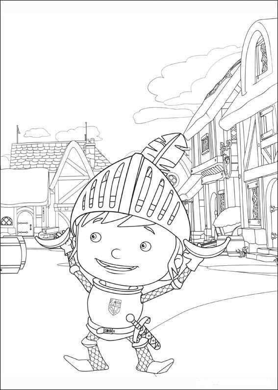 Mike De Ridder Kleurplaten 4 Kleurplaten Voor Kinderen Ridders Kleurplaten