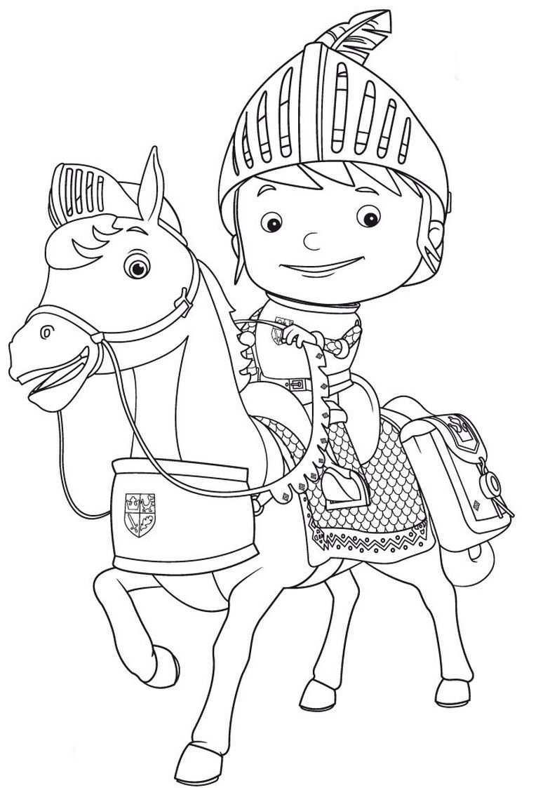 Kolorowanka Rycerz Mike I Galahad Nr 1 Ridders Thema Prinsessen
