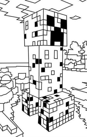 Leuke Kleurplaat Minecraft Op Kids N Fun Nl Minecraft Creeper Minecraft Minecraft Ver