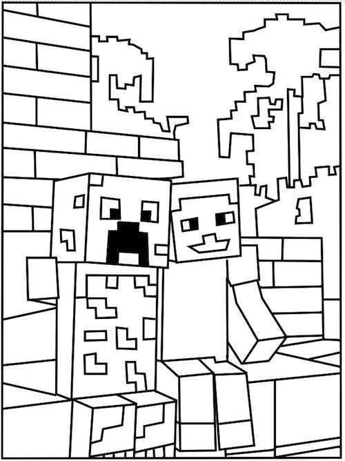 Minecraft 17 De Beste Kleurplaten Minecraft Verjaardagsfeestje Kleurplaten Kinderkleu