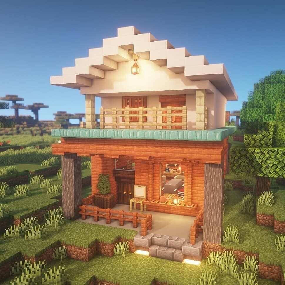 Kleurplaten Minecraft Huis