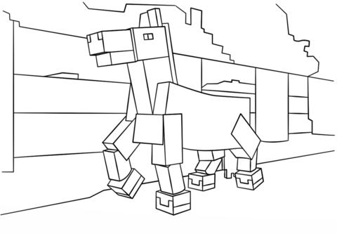 Minecraft Paard Kleurplaat Gratis Kleurplaten Printen