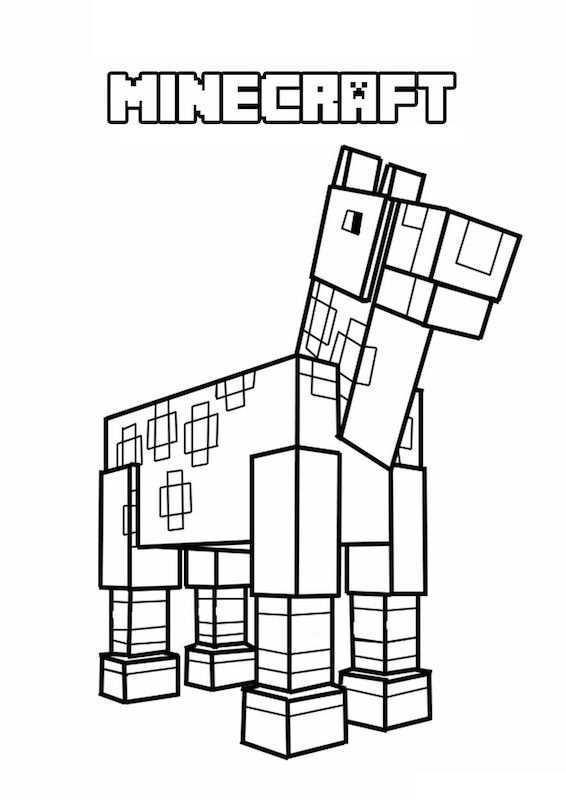 Kleurplaten Minecraft Paard