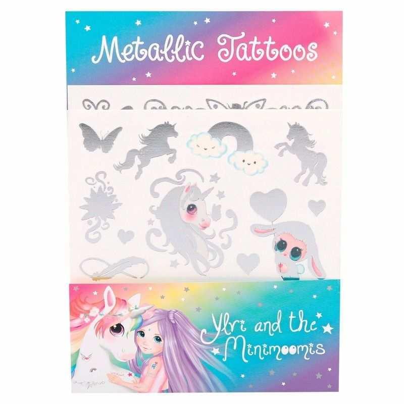 Ylvi And The Minimoomis Plak Tattoos 2 Vellen Kind Vriendelijke Plak Tatoeages Met Leuke Plaatjes Van Ylvi And The Minimoomis In Gla Tatoeages Zilver Eenhoorn