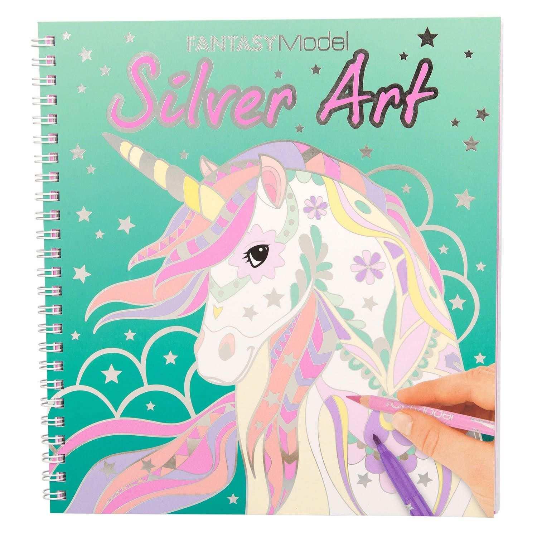 Topmodel Fantasy Model Kleurboek Silver Art Kleurboek Meiden Tekeningen Kleuren