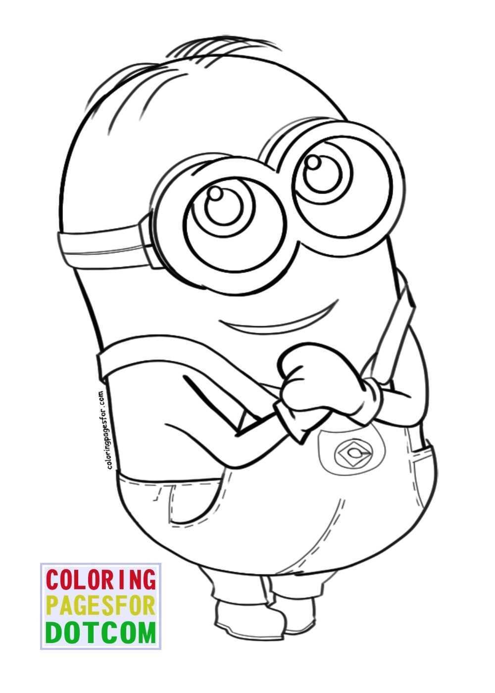 Kleurplaten Minion Bob
