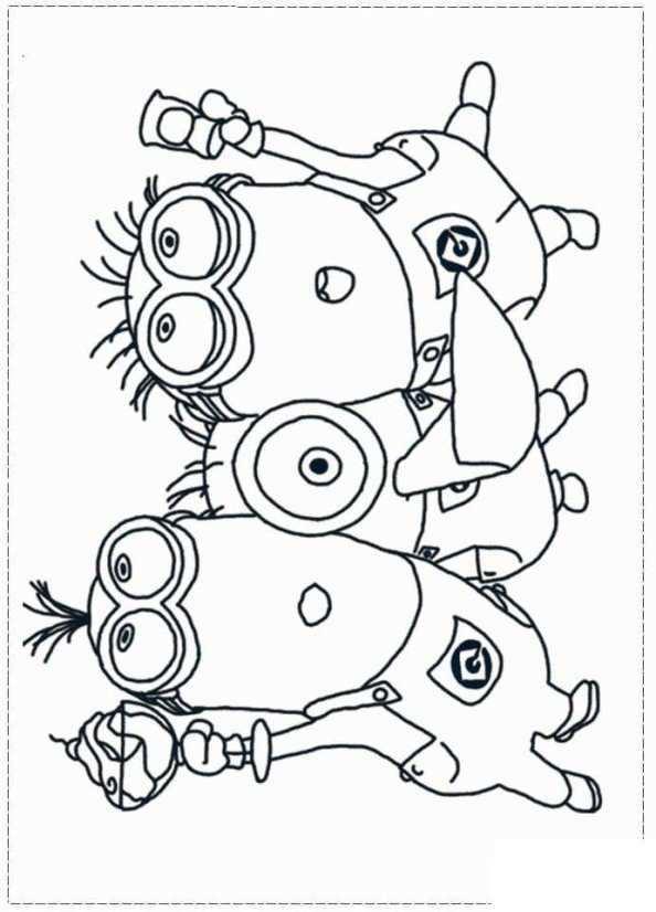 Print Minions 15 Kleurplaat Kleurplaten Minions Digitale Stempels