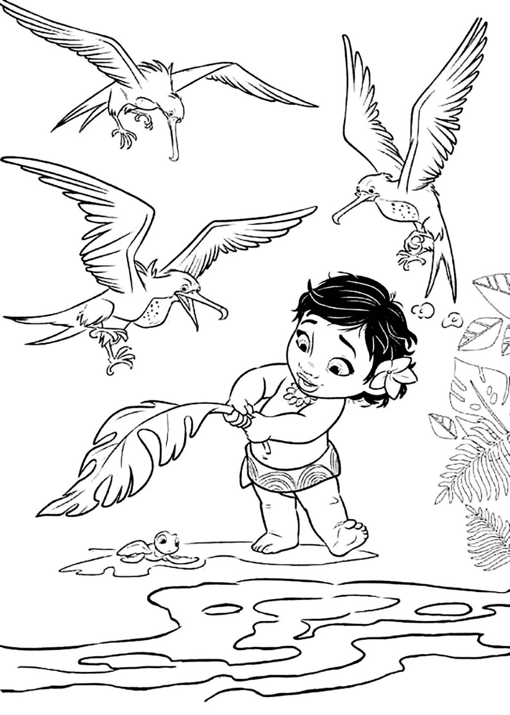 61 Coloring Sheet Moana Disney Coloring Pages In 2020