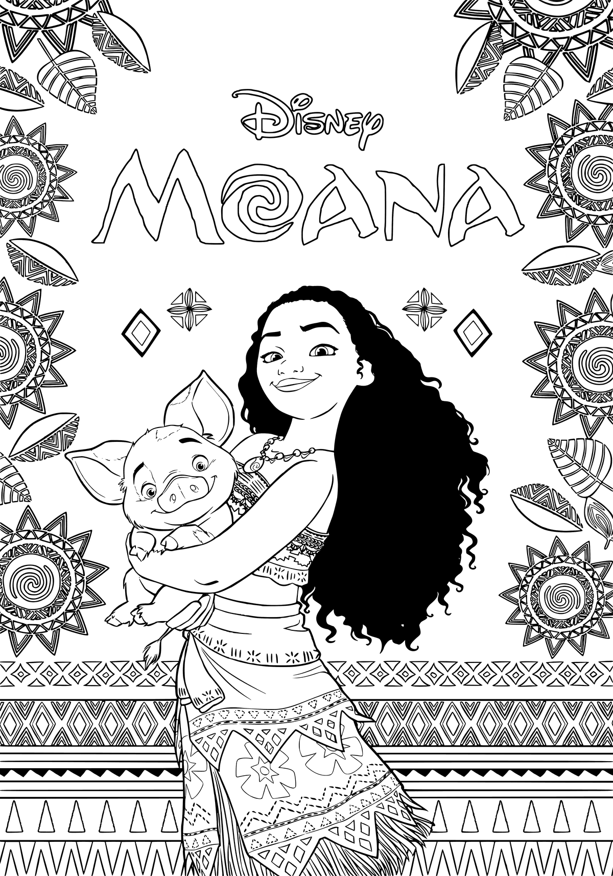 Moana Disney S New Instant Classic Is Getting Lots Of Play And There S Good Reason Why Huge Adven Moana Coloring Pages Moana Coloring Disney Coloring Pages