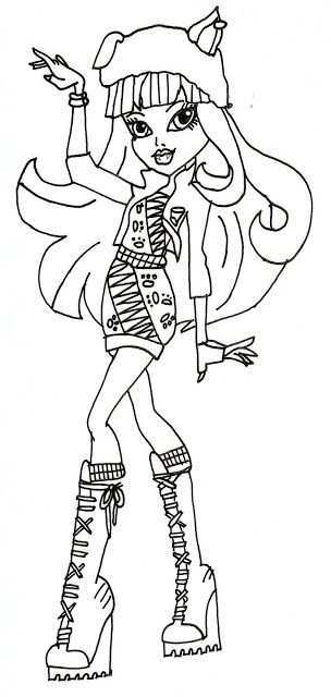 Monster High Free Printables Howleen Wolf 13 Wishes Coloring Sheet Elephant Coloring Page Coloring Pages Cool Coloring Pages