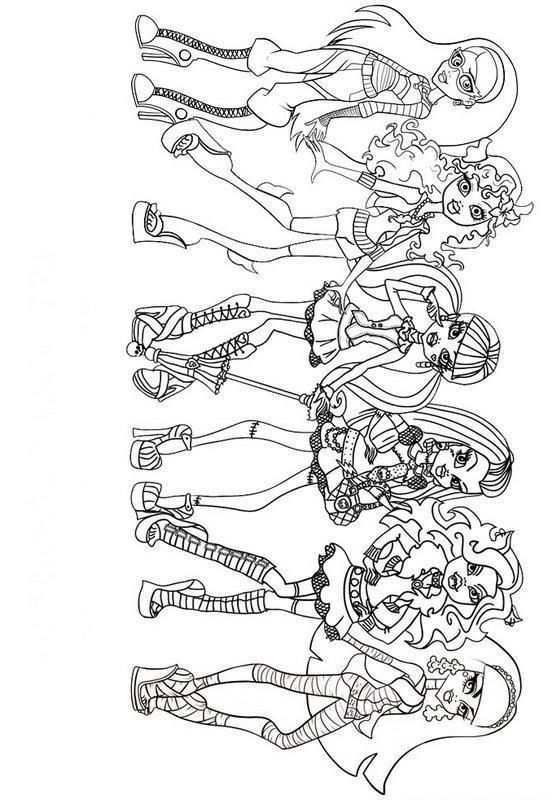 Dcoloringpages Com Monster High Monster High Birthday Party Colouring Pages