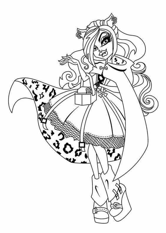 Pin Van Natascha Van Op Kleurplaat Fatasie Eenvoudige Tekeningen Kleurplaten Monster High