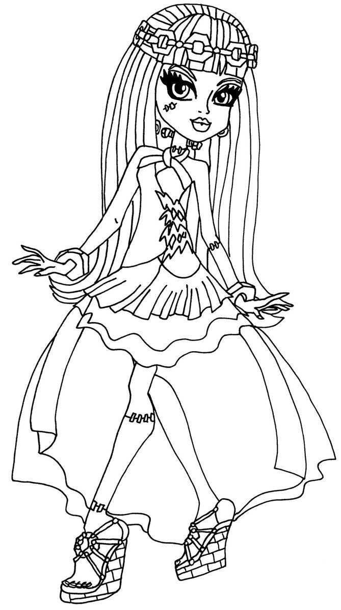 Frankie 13 Wishes By Elfkena On Deviantart A Coloring Page Of Frankie In Her 13 Wis Monster Coloring Pages Halloween Coloring Pictures Monster High Halloween