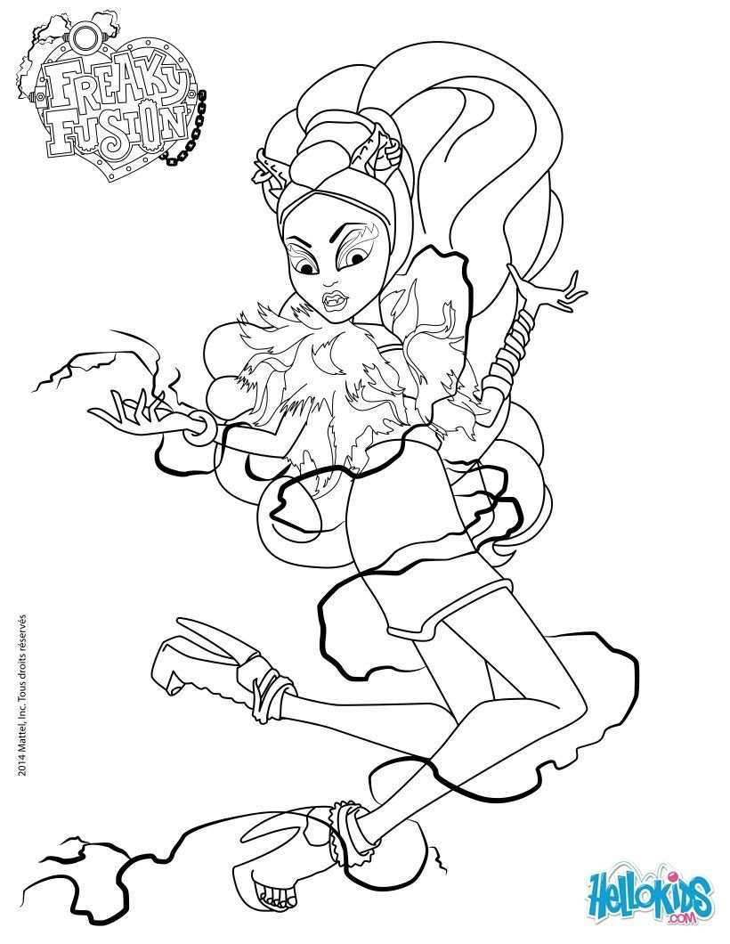 Monster High Coloring Pages Monster High Freaky Fusion Clawvenus Monster High Freaky Monster High Coloring Pages