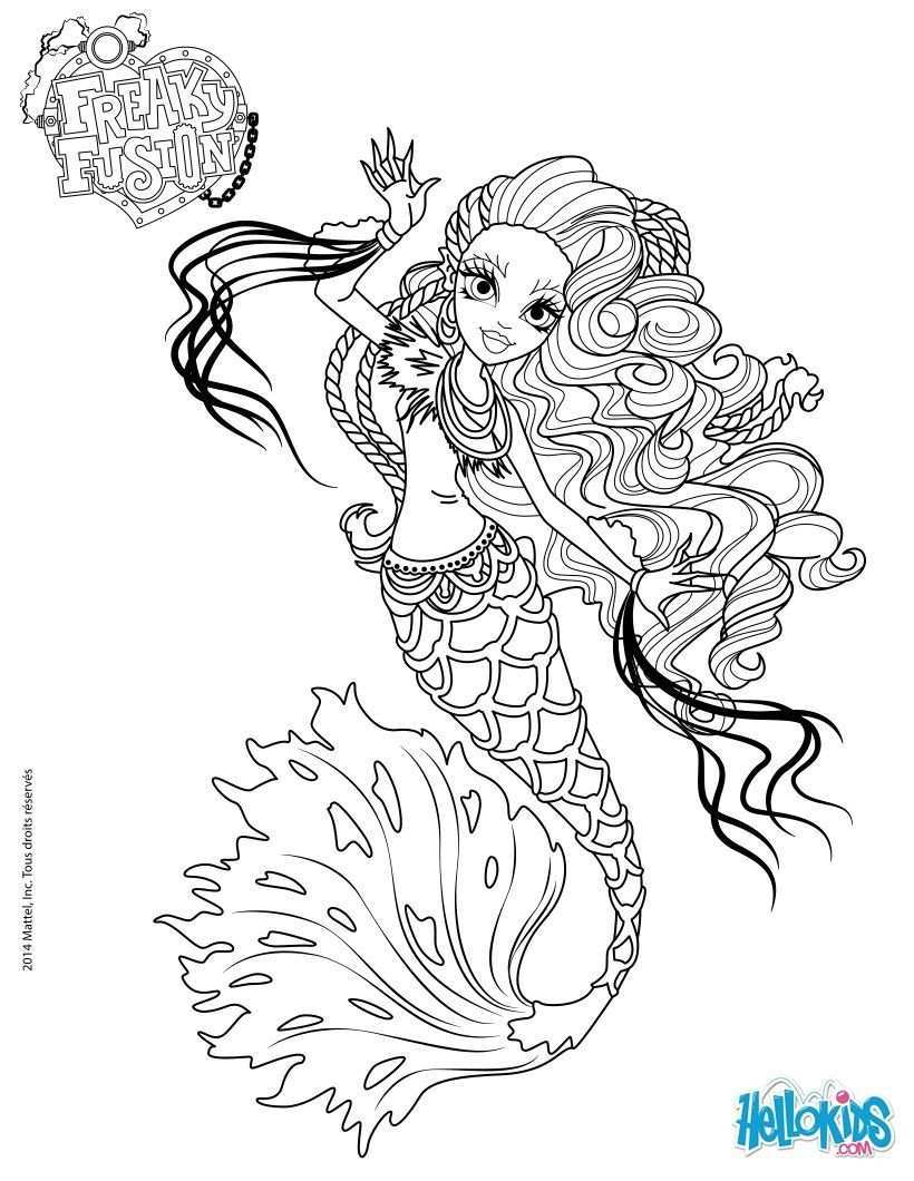Monster High Coloring Pages Monster High Freaky Fusion Sirena Von Boo Mermaid Coloring Pages Coloring Pages Cartoon Coloring Pages
