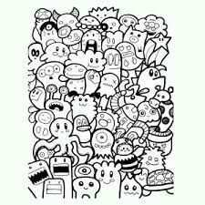 Monsters Kleurplaat Cute Doodle Art Doodle Art Drawing Doodle Art