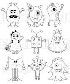 Monstertjes Monstertjes Monstertjes Door Eva1982 Krabbel Kunst Tekeningen Monster Tekening Kind Tekening