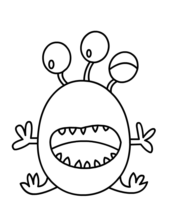 Monster Ruimte Png Printen Kleuren Is Leuk Kleurplaten Monsters Schilderen Van Stof
