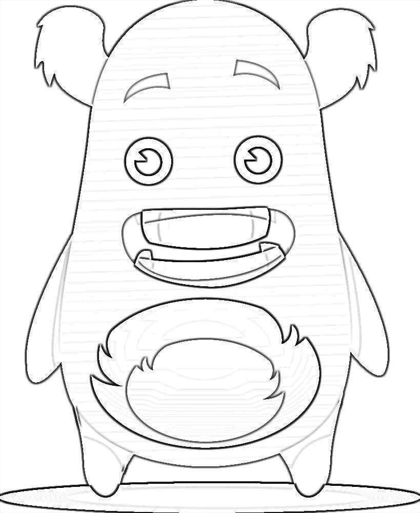 Kleurplaat Monsters Classdojo Monsters Kleurplaten