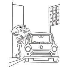 Mr Bean Coloring Pages Mr Bean S Car Cars Coloring Pages Coloring Pages Color