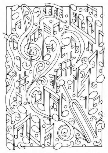 Coloring Page Music Img 18438 Music Coloring Music Coloring Sheets Coloring Pages