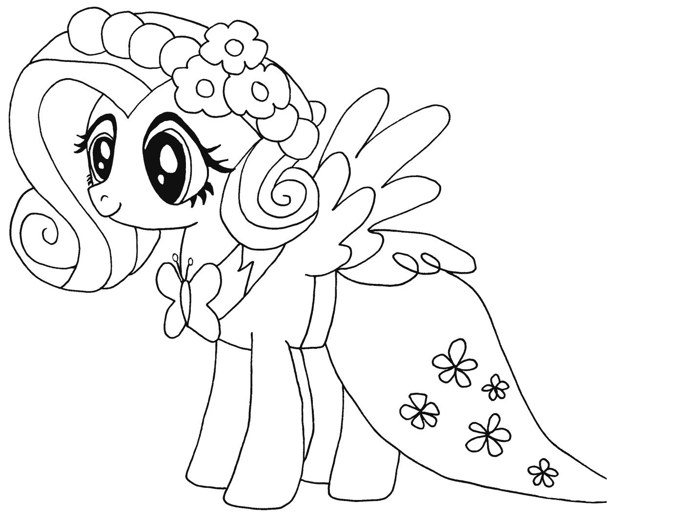 My Little Pony Fluttershy Kleurplaat My Little Pony Kleurboek Kinderkleurplaten