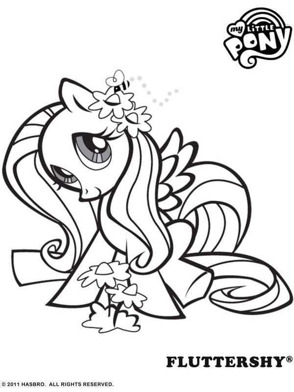 Free Online My Little Pony Fluttershy Colouring Page My Little Pony Coloring Horse Coloring Pages Colouring Pages
