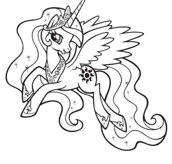Princess Celestia Coloring Pages My Little Pony Coloring My Little Pony Printable My