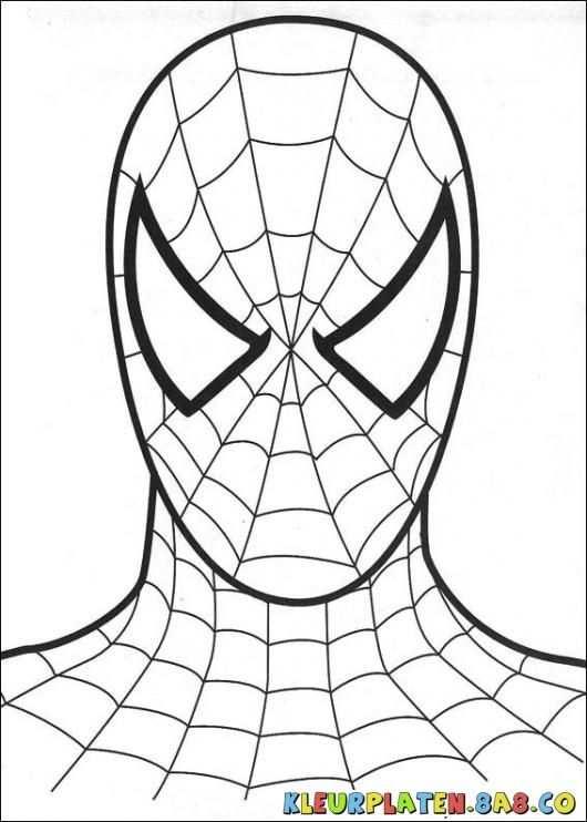 Spider Man Mask Kleurplaten Kleurplaten Voor Kids Tekening Van Het Schminken En Kleuren Spiderman Spiderman Knutselen Robot Gratis Kleurplaten